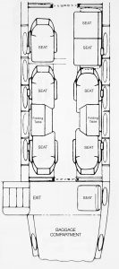 King Air 300 Seating Layout